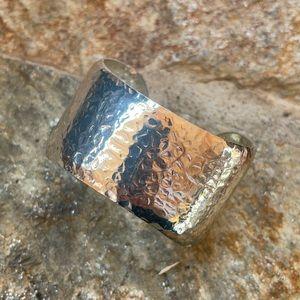 Silver Hammered Bangle Bracelete